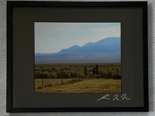 F11x14-3796 Nevada Backyard Mountains Fence