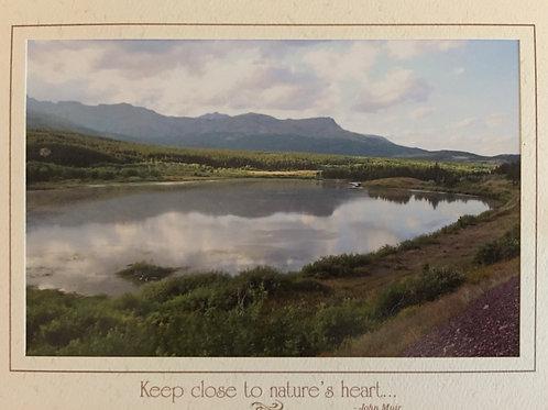 C-6466 Train Lake With Mountains