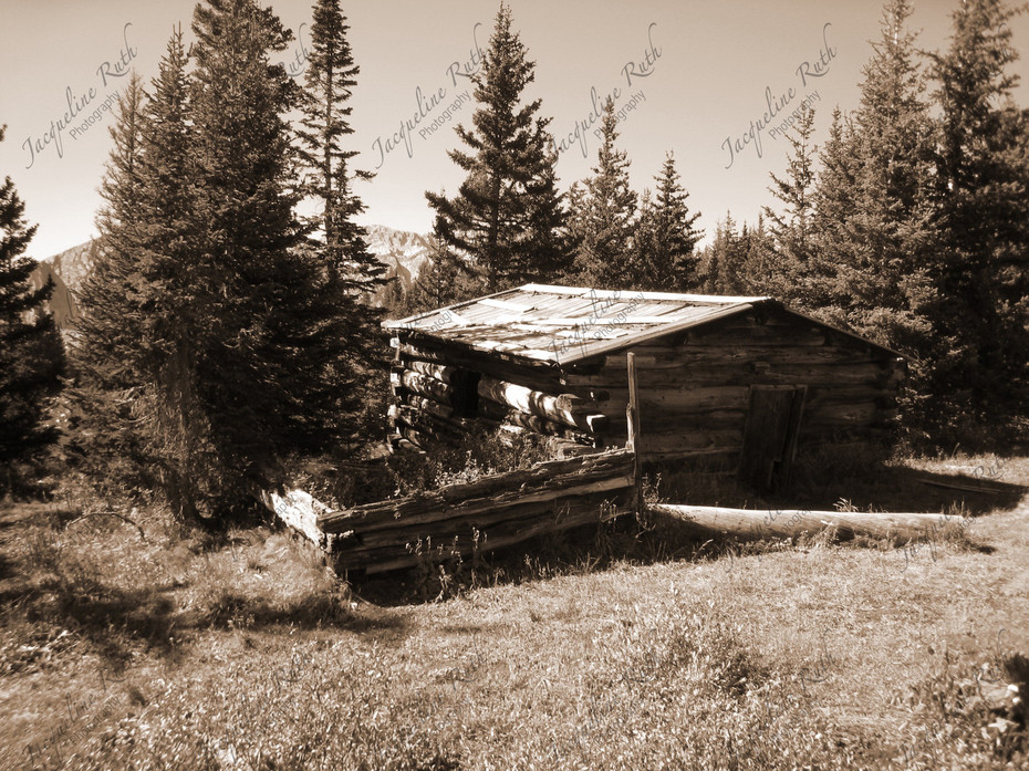 mining cabin in the mountains