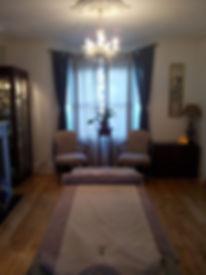 elegant massage therapy room
