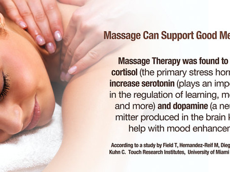 Massage can support good mental health