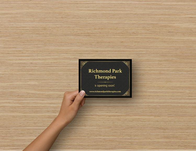 Richmond Park Therapies re-opening card