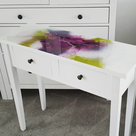 Purple & Lime table
