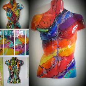Male & Female Torso Wall Art