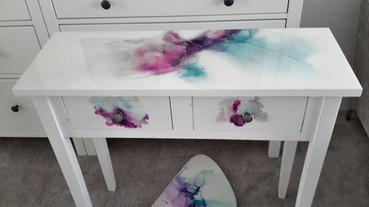 Table- Turqouise & Purple