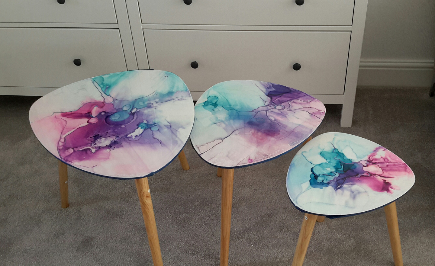 Side table set of 3.