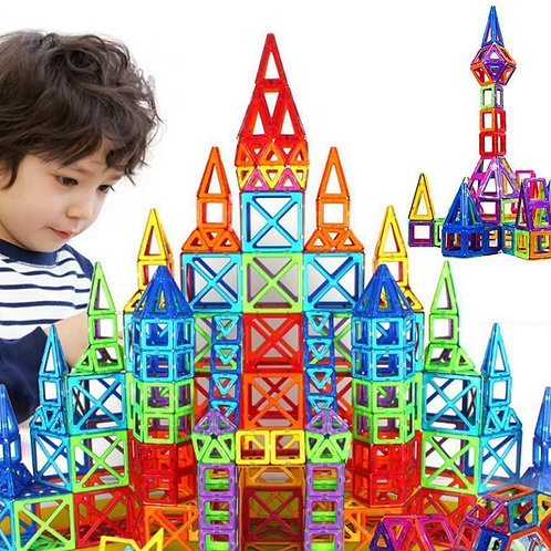 113 PCS 3D Magnetic Building Tiles Sets
