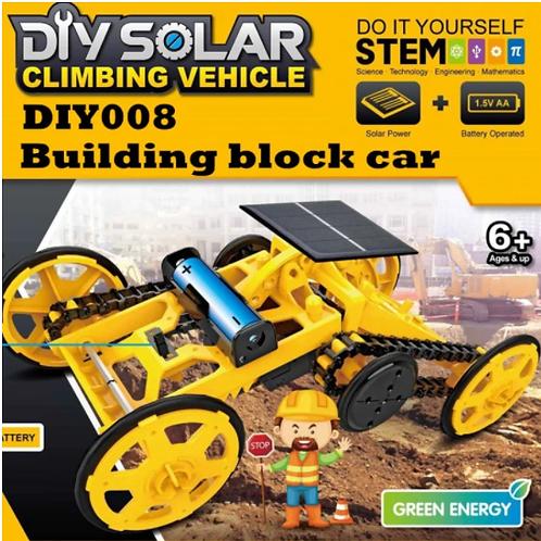 DIY Solar Electric Engineering Building Block Car