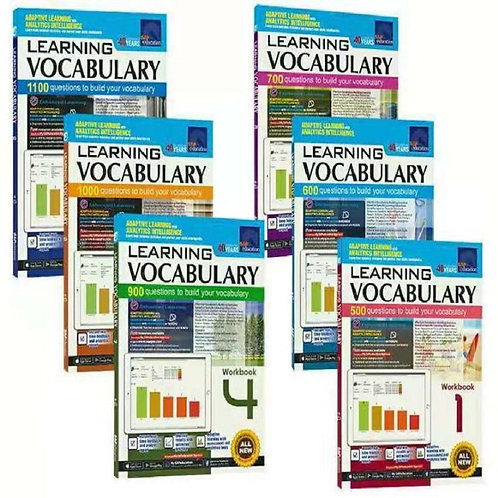 6 Books 7-12 Years Old SAP Learning Vocabulary  Exercise Book Set