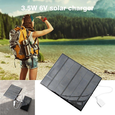 USB Charger Mobile Phone Solar Panel  External Outdoor Travelling Charger