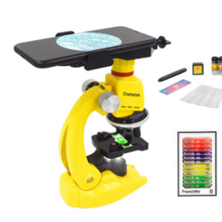 Microscope Kit Lab LED 100X-400X-1200X