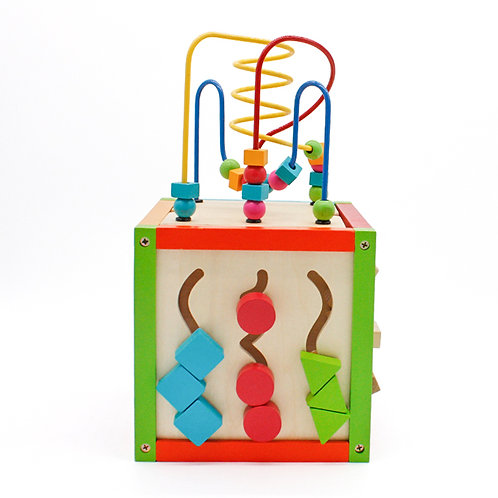 Wooden Cube 5 in 1 Activity Center