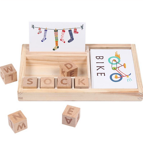 Wood Spelling Words Game