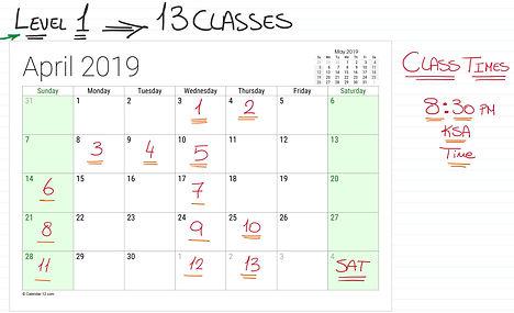 April 2019 Level 1 New Schedule.JPG