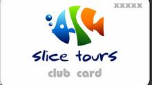 Slice Tours Club Card в подарок, заполни форму и копи мили с нами.