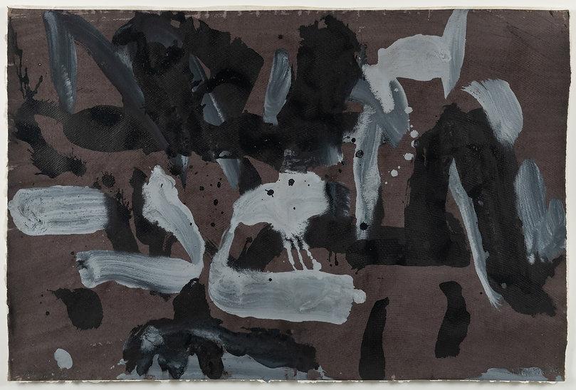 abstraction ; geste ; blanc ; brun ; nos corps ont leurs raisons, 2021 ; collection oeuvres d'art UdeM