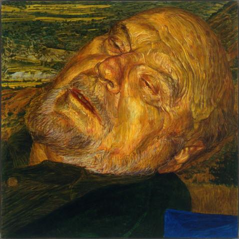 L'espagnol no 1 (portrait de T.K.), 1998, 92 x 92 cm, secco, Collection privée, Montréal.