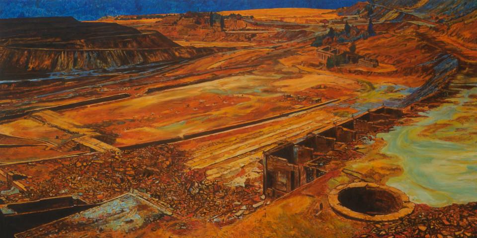 Cariera No.15, 2018, 122 x 244cm, huile sur toile.