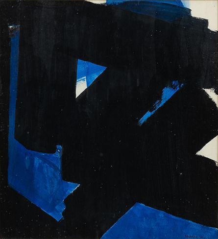 Corabstraction ; bleu ; noir ; blanc ; geste ; nos corps ont leurs raisons ; 2021 ; collection oeuvres d'art UdeM