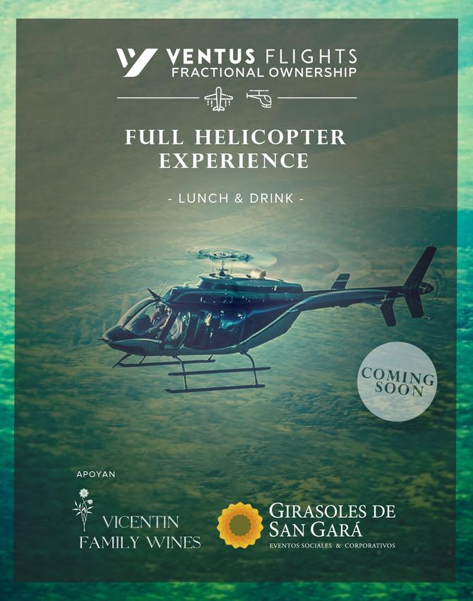 Full helicopter experience en Girasoles de San Gará.