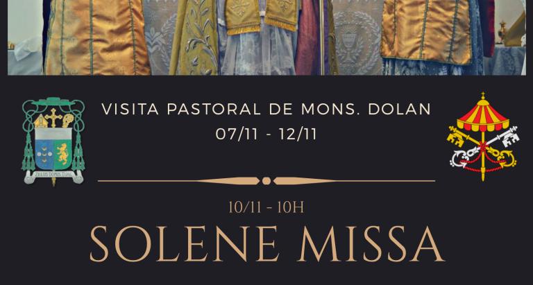 É oficial. Em novembro, Monsenhor Dolan vem ao Brasil em visita pastoral