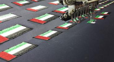 UAE Flag embroidery