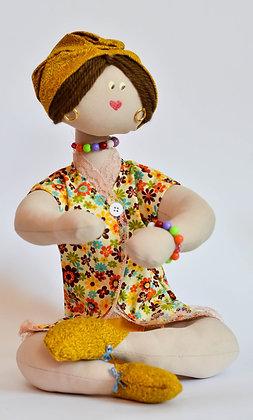 Boneca de Pano Decorativa - Mãe
