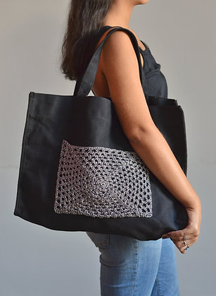 Bolsa com Crochê