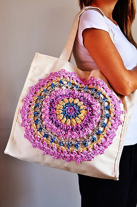 Bolsa Mandala de Tricô P
