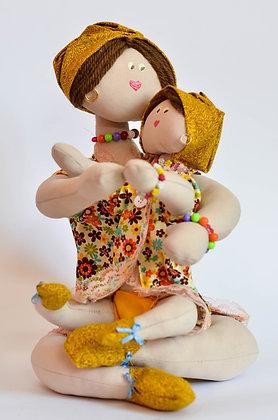 Bonecas de Pano Decorativa - Mãe&Filha