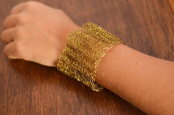 Bracelete Crochê de Arame