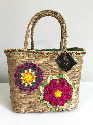 Bolsa de palha de Junco - Flor&Mandala