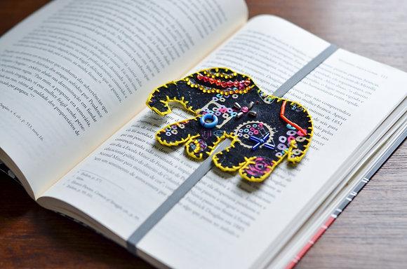 Marcador de livro - Elefante