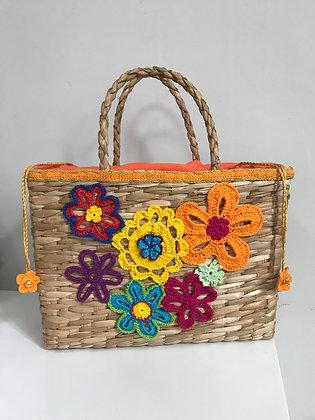 Bolsa de Palha de Taboa - Flores