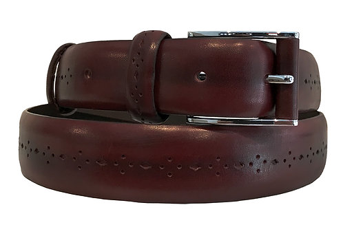 OXBLOOD PERFORATED BELT