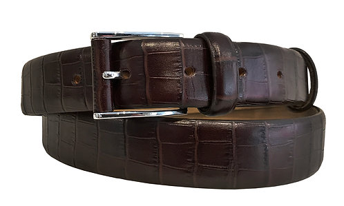 BROWN CROC BELT