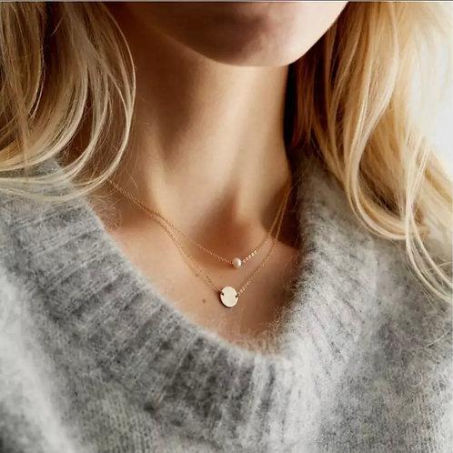Duo perle médaillon