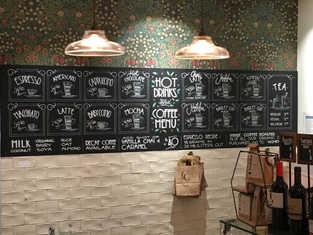 Coffee menu for Cornucopia