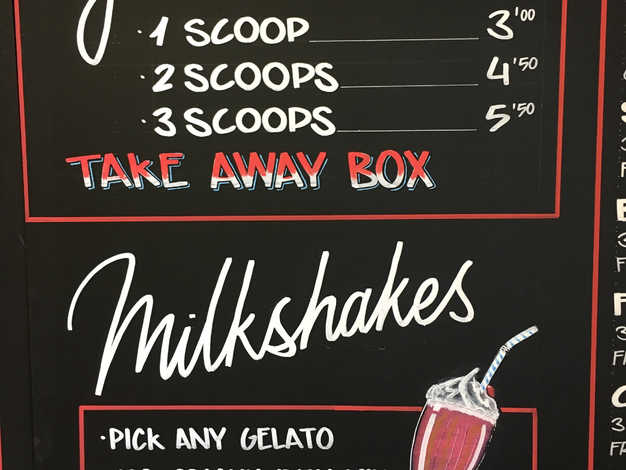 Ice cream chalkboard (detail)