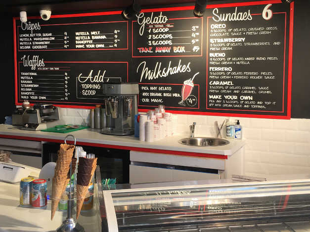 Ice cream shop chalkboard