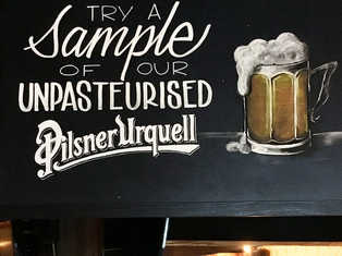 Pilsner Urquell board