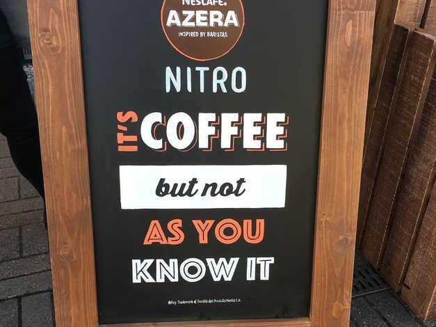 Nescafé Nitro chalkboard
