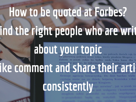 How to be quoted at Forbes?
