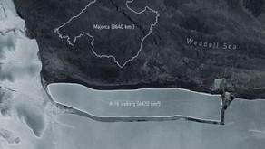 A-76, o maior iceberg do planeta se desprende da Antártica.