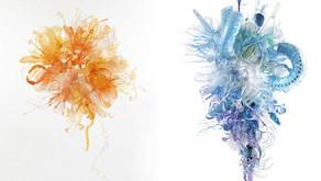 Resíduo plástico virando arte.