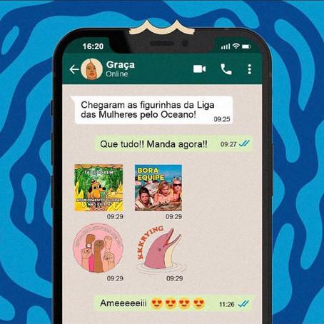 Figurinhas da campanha para o Whatsapp!