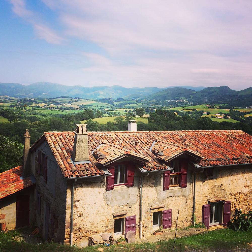 Vistas desde el Sendero de los Contrabandistas de Sare. País Vasco Francés.