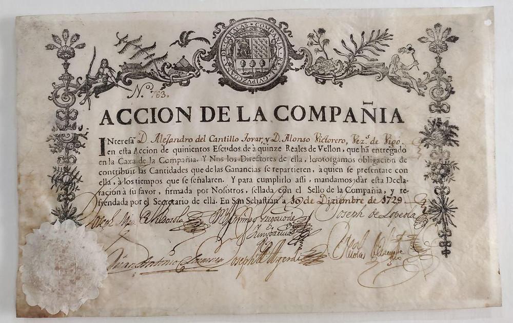 Real Compañia Guipuzcoana de Caracas.