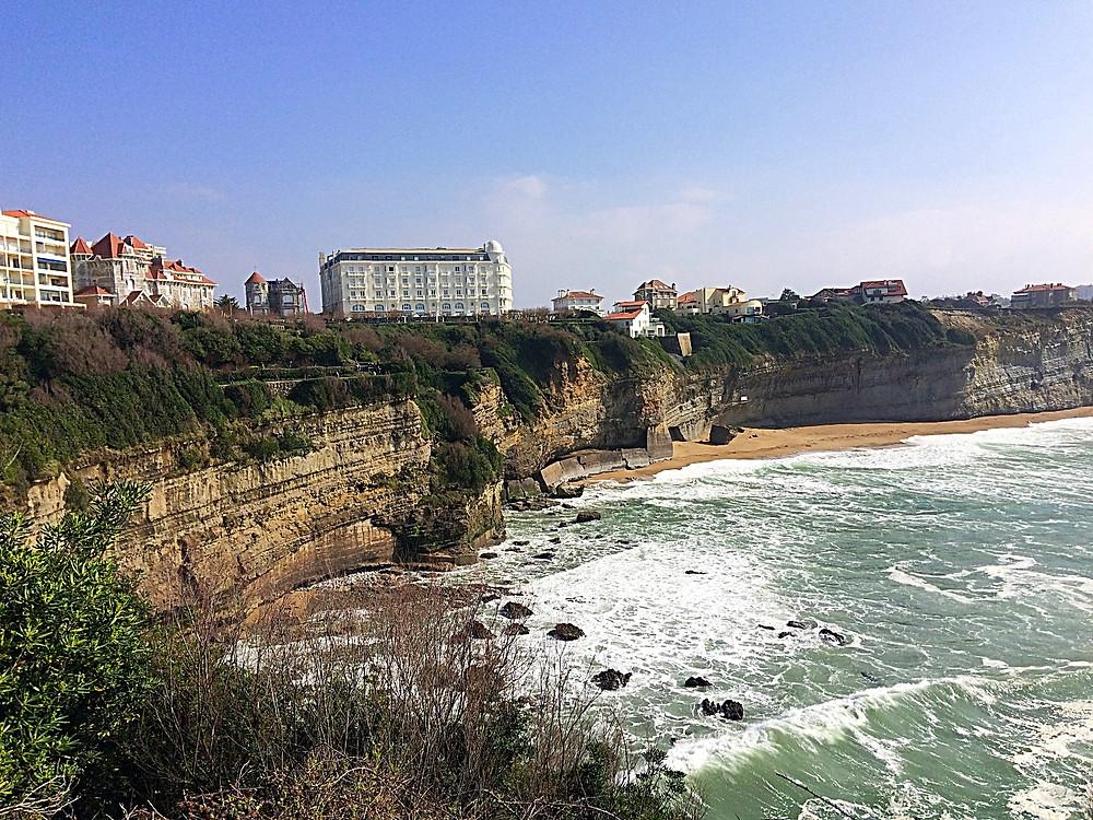 Vistas parciales desde el Faro de Biarritz