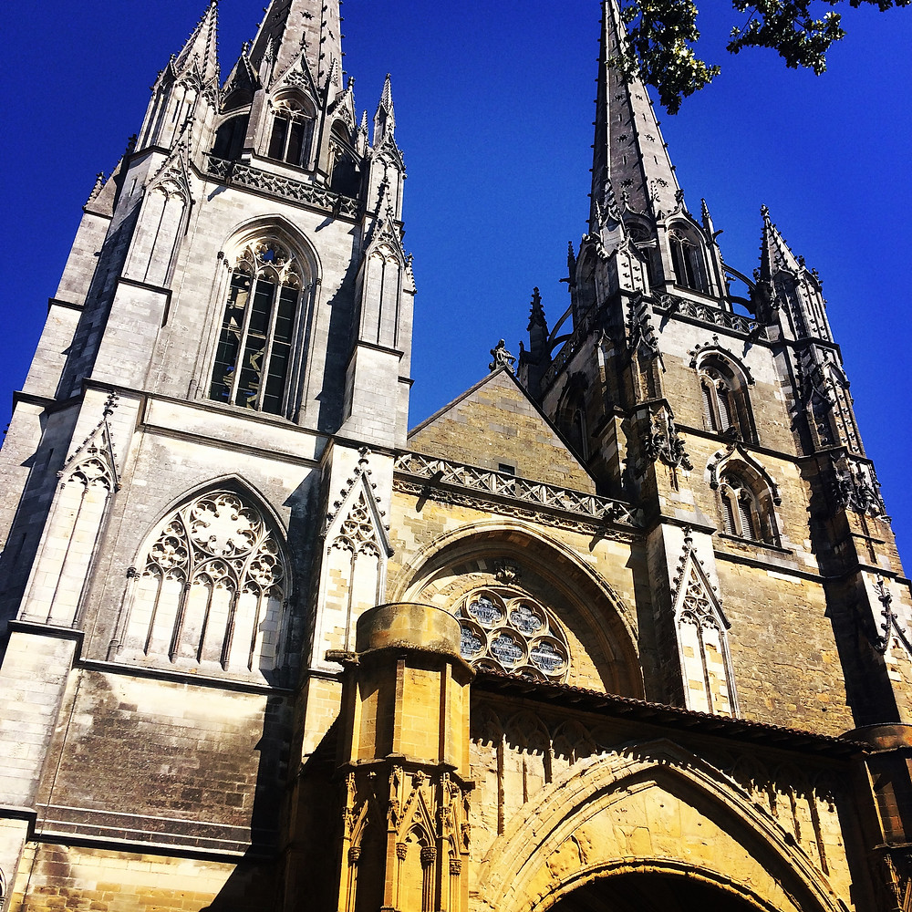 Bayonne's Cathedral. An Unesco World Heritage site. French Basque Country